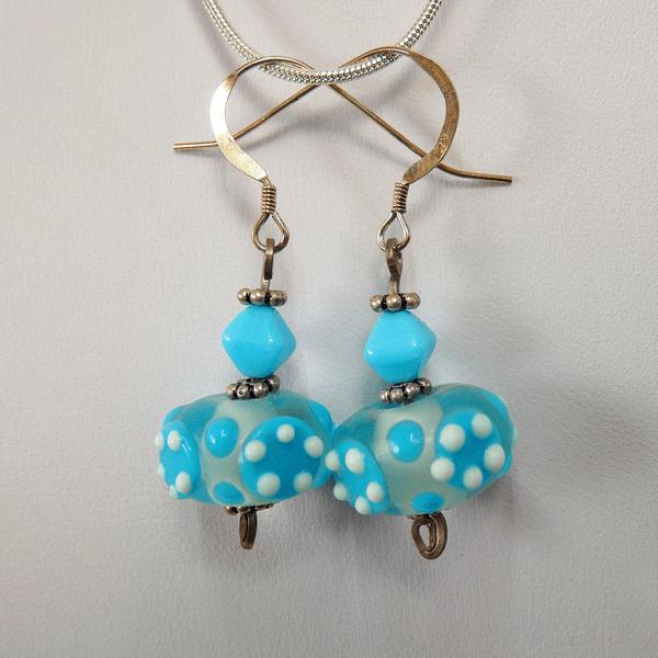 blue_milk_glass_bead-clear_blue_lampwork_glass_bead-sterling_silver-french_wire-earrings