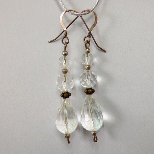 clear_faceted_quartz_crystal-sterling_silver-french_wire-earrings